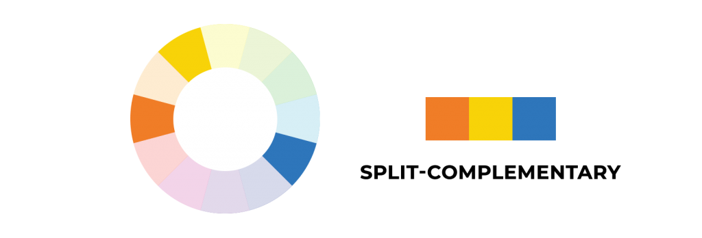 Split-Complementary Scheme - Color Harmony